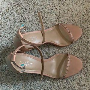 Loft blush studded strappy sandal size 7.5